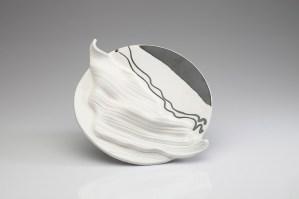 Porcelain clay, 12 inch dia, 2014