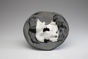 Porcelain clay, 12 inch dia, 2014