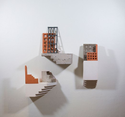 "earthenware, concrete, plaster, acrylic, 2017, 30"" x 10"" x 24"""