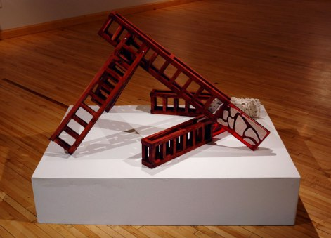 porcelain, resin, wood, rubber, Fall 2010
