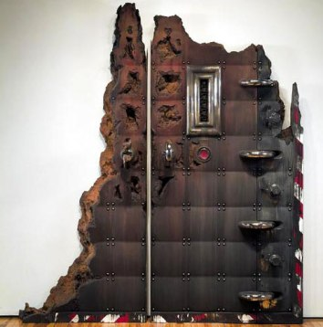 114 x 110 x 14 in., painted, glazed, and reinforced ceramic, 2004