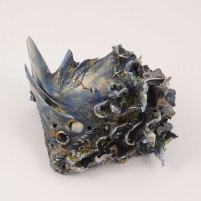 """Stoneware, underglaze, acrylic, 4.5"""" x 8.75"""" x 7"""", 2016"""