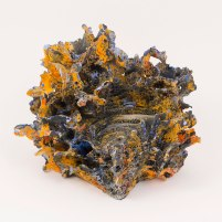 """Stoneware, underglaze, acrylic, 8.5"""" x 10"""" x 7.5"""", 2016"""
