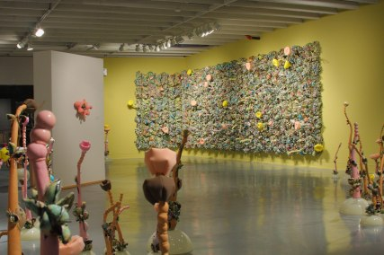 Synthetic Reality, 2007-2008, installation, porcelain, wood, acrylic, foam, polyfil, 12' x 28' x 10""