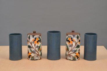 """Sanam Emami, """"Garniture of Five Vases"""""""