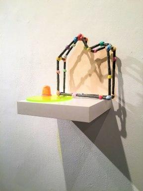 "Clay, Latex Paint, PC-11, Plexiglas, Ceramic Shell, 15x13x.15"", 2017"