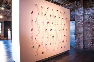 """2016. Stained porcelain, wood, wire. 8ft x 10ft x3"""""""