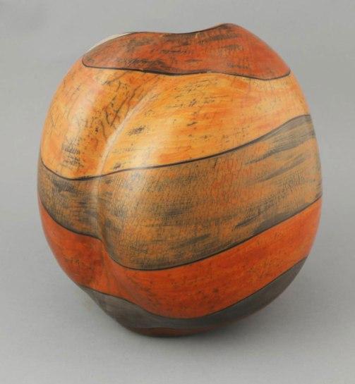 stoneware, terra sigillata, wood firing, Periscope Gallery, 2017