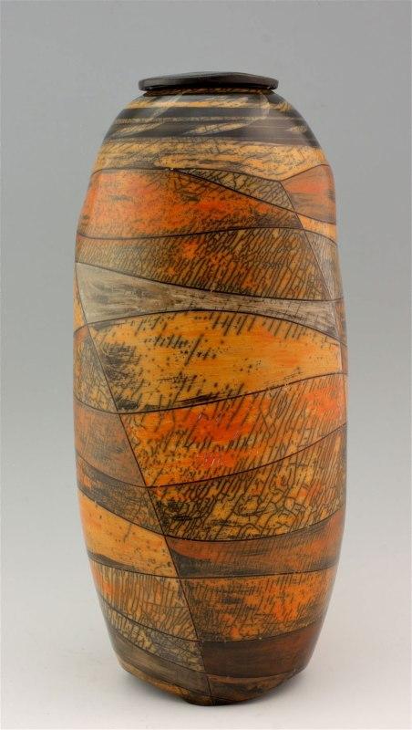 stoneware, terra sigillata, wood firing, 2016