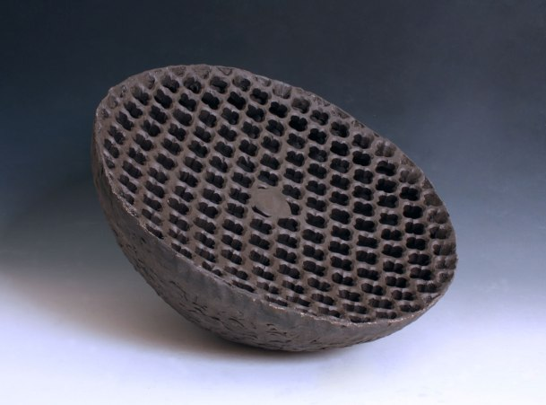 """10""""x16""""x16"""", reduction fired earthenware, 2013"""
