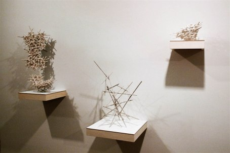 installation shot, Fifth Floor Gallery, 2011, porcelain and porcelaineous stoneware, cone 6, oxidation fired