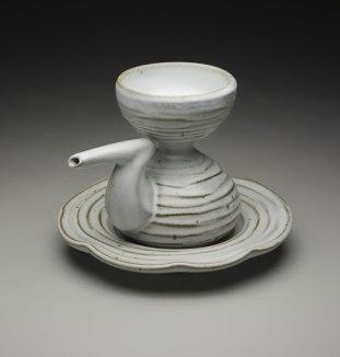 "6.5"" x 7"", iron rich stoneware w/ satin matte glaze, reduction cone 9"
