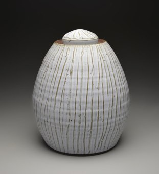 "14"" x 11.5"", iron rich stoneware w/ satin matte glaze, reduction cone 9"