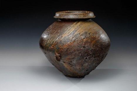 "Wood Fired Stoneware, 2013, 17.5""x17""x17"""