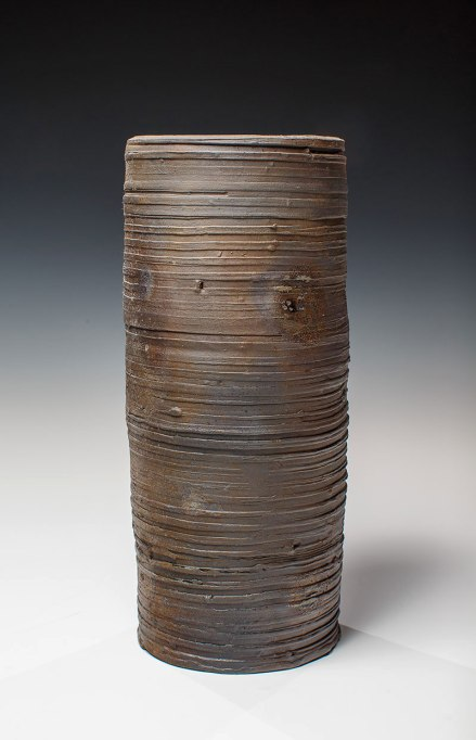 "Wood Fired Stoneware, 2013, 10.5""x4.5""x4.5"""
