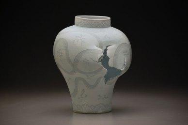 """14"""" x 13"""" 18"""", porcelain, white slip, 2013"""