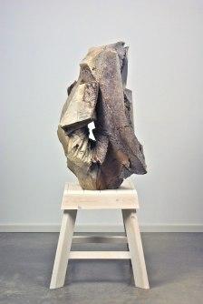 "52 x 20 x 20"", woodfired stoneware with natural ash glaze, douglas fir"