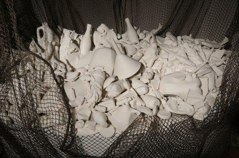 "Susan Schultz, ""Plastic Ocean-Catch, detail"""