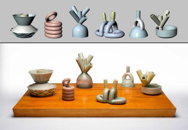 "24""x12""x8"", Materials: Porcelain, Wood, Printcone 8 ox."