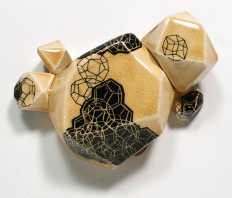 2014, ceramic, underglaze transfers, 8x10x3