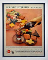 "Original 1960's Found Advertisement and Frame, 10"" x 12"", 2016"
