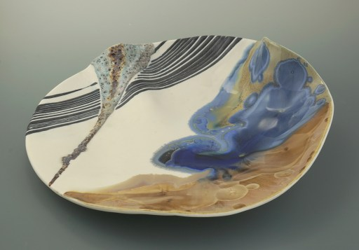 Crystalline and volcanic glazes, porcelain cone 10. W.55cm