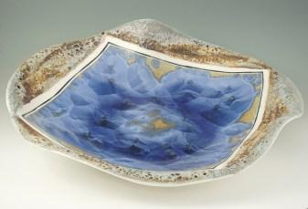 Crystalline and volcanic glazes, porcelain cone 10. W.55cm