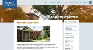 Berea College website screenshot