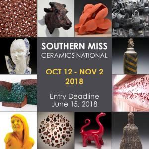2018 Southern Miss Ceramics National