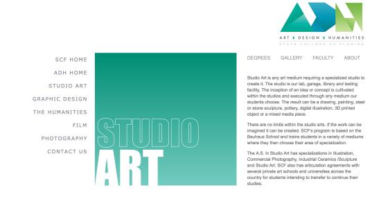 State College of Florida website screenshot