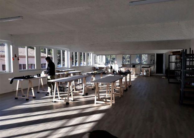 Studio image from the International Artists Residency Exchange