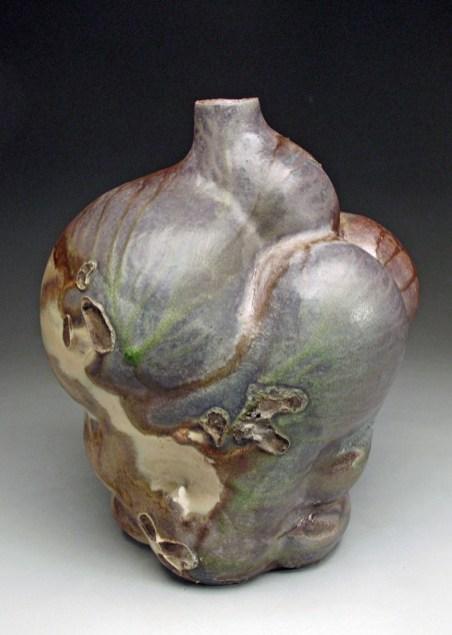 """2018, glazed stoneware, wood-fired, 18""""x15""""x14"""""""