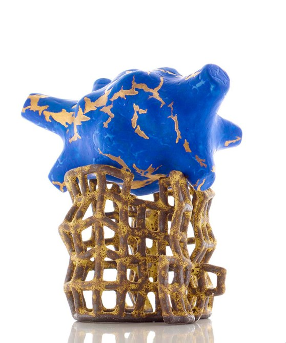 2016, multiple glazed high fired ceramic with 22 carat gold lustre, L290xW290xH320mm