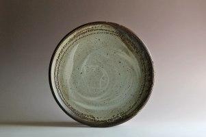 """white slip & wood ash glaze, 2"""" x 16"""""""