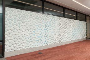 """slip cast porcelain, 6""""x27'x2"""", 2013, Commissioned through the Art in Architecture Program, Fine Arts Collection, U.S. General Services Administration"""