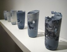 cast porcelain, soluble salts, decals, 2009