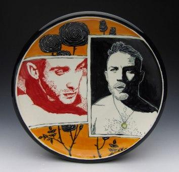 porcelain with underglaze, 12x12x2
