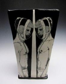 porcelain with underglaze, 13x9x9