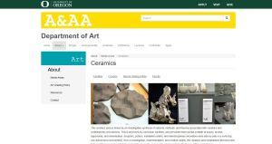 University of Ortegon website screenshot