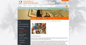 University of Miami website screenshot