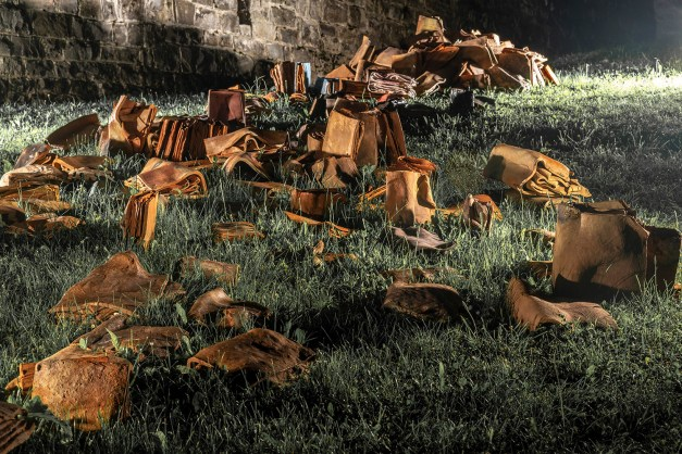 Cantacuzino Castle, Bușteni, Romania, 2018, wood- and electric-fired red earthenware, 960C, 1500 x 400 x 100 cm / 590 x 157 x 40 inches