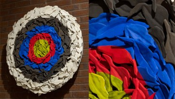 2013. Ceramic (earthenware, slip, terrasigillata, glaze), terrasigilatta, glaze. 92 cm in diameter