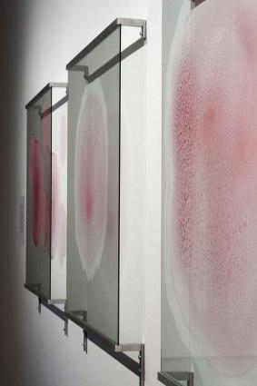 "2011, glass, aluminum, pigments, 36"" x 240"" x 3"""