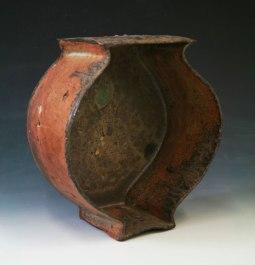 "5""w x11.5""h x4""d (inch), Stoneware clay, glazes, wood fired cone 10, 2014"