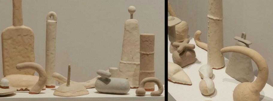 """Grey Alphabet (details), 2013, Glazed Earthenware, 44""""x17""""x20', Photo Credit : The Burlington Arts Centre"""