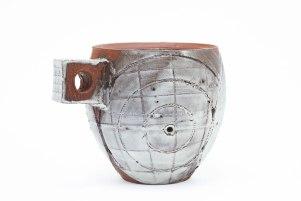 """Sand Blasted Porcelain on Terra Cotta, 4"""" x 3.5"""" x 3.5"""", 2016"""