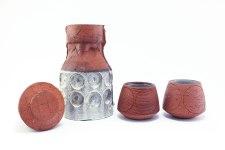 """Sand Blasted Porcelain on Terra Cotta, 8"""" x 15"""" x 5"""", 2016"""