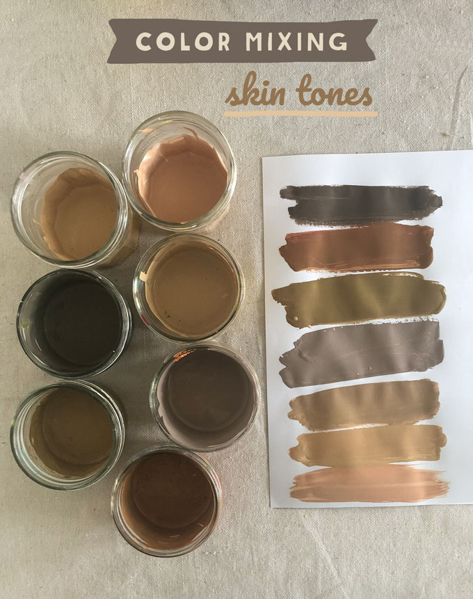 How To Mix Brown Paint : brown, paint, Mixing, Tones, Using, Primary, Colors, ARTBAR