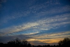 roller stratus clouds sunset