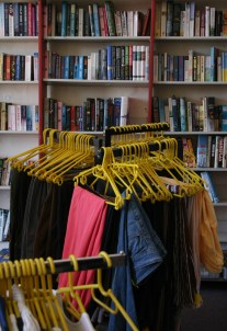 The Sunflower Hospice Shop sells more than just books; it sells any items that people bring in as donations, ranging from furniture to kitchen utensils.